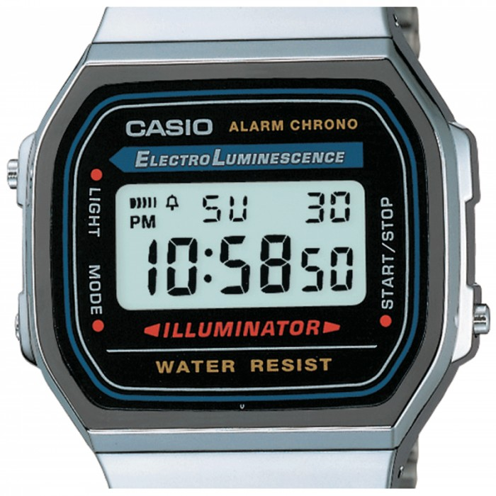 Casio A168WA-1YES Argent