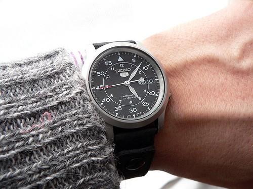 montre Seiko SNK809 automatique noire