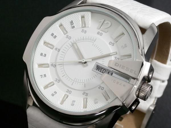 montre diesel blanche quartz