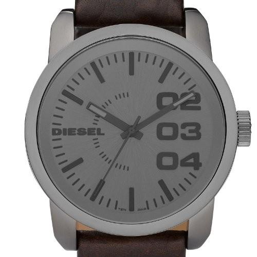 montre acier grise ronde