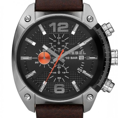 montre diesel quartz marron