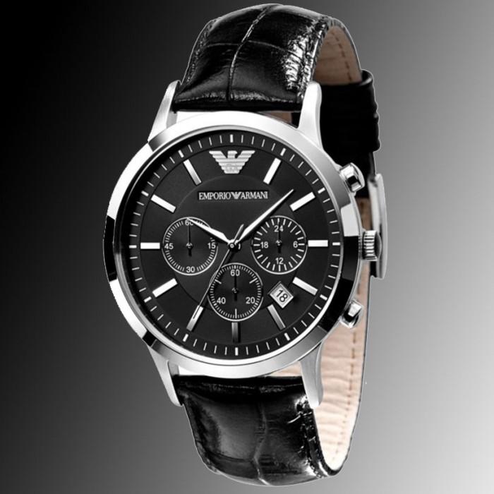 montre armani acier noire