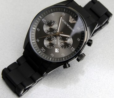 montre armani grise