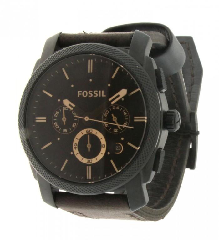 fossil acier marron noire