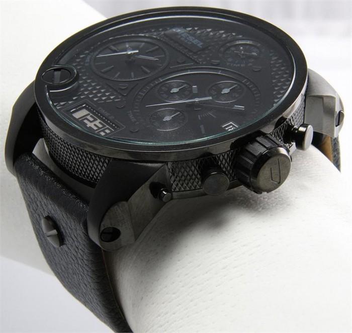 diesel dz7193 montre acier diesel homme noir quartz ronde. Black Bedroom Furniture Sets. Home Design Ideas