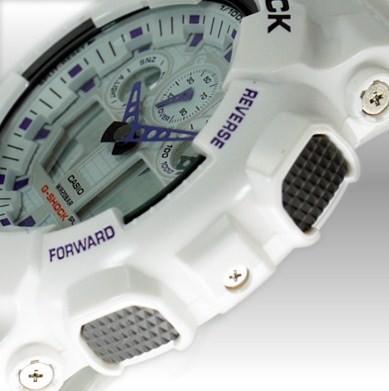 Casio GA-100A-7AER plastique blanc quartz