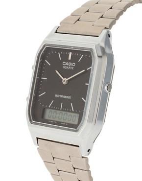 Casio AQ-230A-1DMQYES argent noir quartz