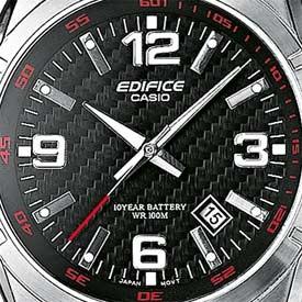 Casio EF-125D-1AVEF noir quartz ronde