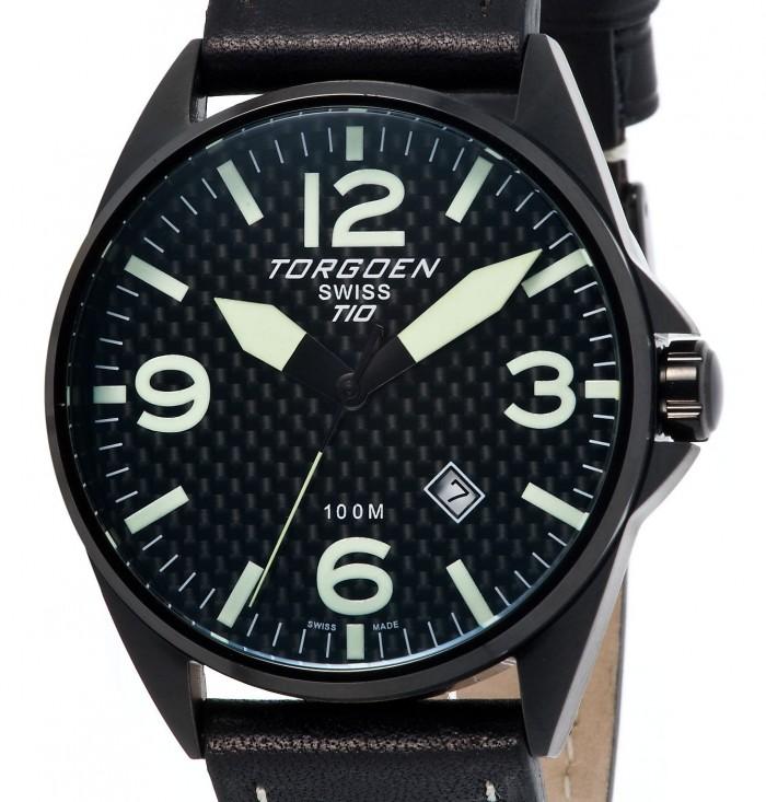 Torgoen T10105 noir quartz ronde
