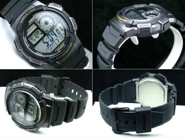 Casio AE-1000W-1AVDF homme plastique gris
