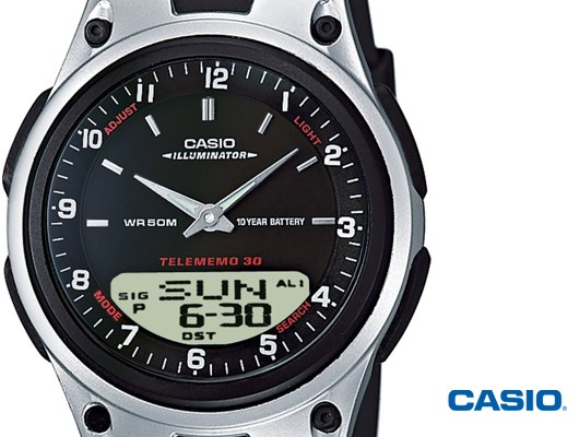Casio AW-80-1AVES homme rond acier