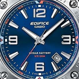 Casio EF-126D-2AVEF argent bleu quartz