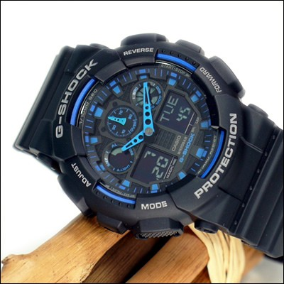 Casio GA-100-1A2ER plastique noir quartz