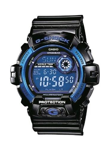Casio G 8900A 1E | Montre Acier, Bleu, Casio, Homme, Noir  bVwxK