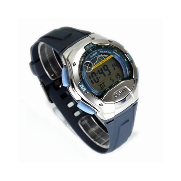 Casio W-753-2AVES homme rond bleu
