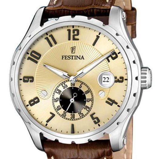 Festina F16486/2 acier marron quartz
