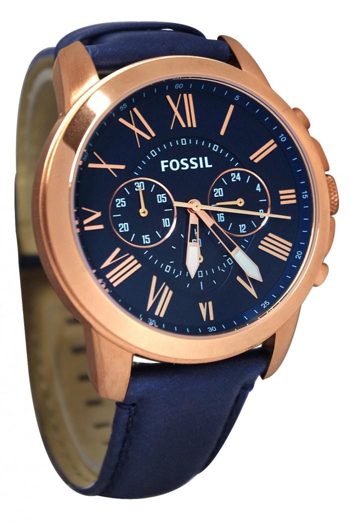 Fossil FS4835 homme rond acier