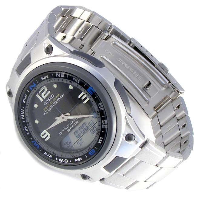 Casio AW-82D-1AVES homme rond acier