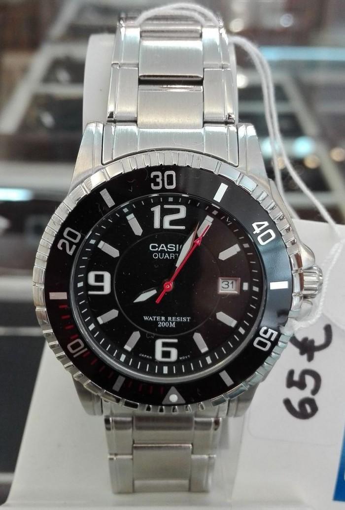 Casio MTD-1053D-1AVES homme rond acier