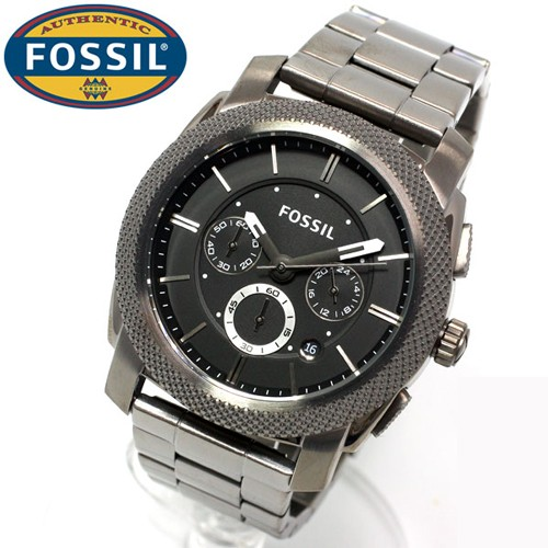 Fossil FS4662 homme rond gris
