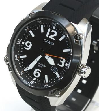 Casio MTF-E001-1AVEF casio noir quartz