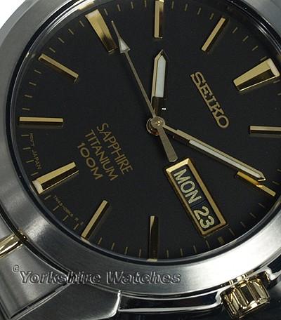 Seiko SGG735 argent noir quartz