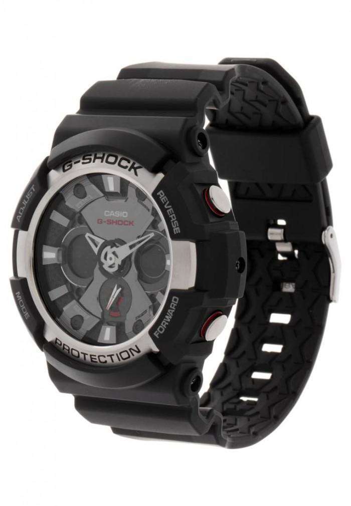 e03ca325d5aa4 Casio GA-200-1AER gris noir quartz Caractéristiques principales. Les  fonctionnalités de G-Shock ...