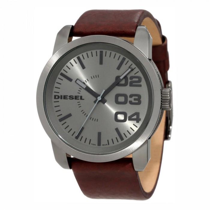Diesel DZ1467 homme rond acier argent