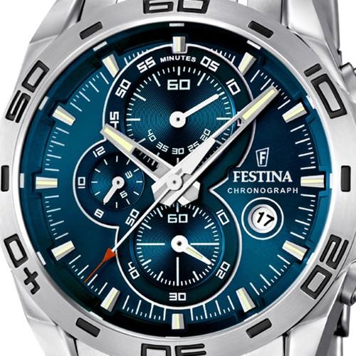 Festina F16654/2 argent bleu quartz